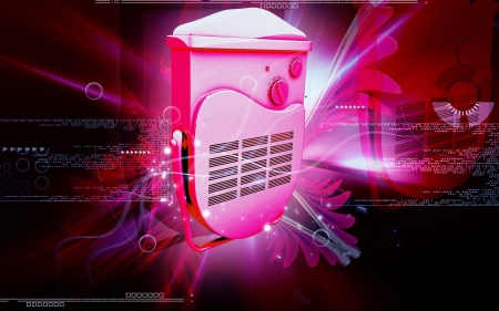 Digital illustration of bathroom fan heater in colour background Stock Illustration - 13946845