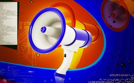 lightweight: Digital illustration of Megaphones in colour background