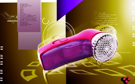 lint: Digital illustration of Lint remover  in colour  backgroud