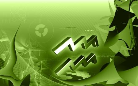 Digital illustration of Zodiac symbol in colour background Stock Illustration - 14038594