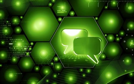 Digital illustration of talk icon in isolated background Stock Illustration - 14038606
