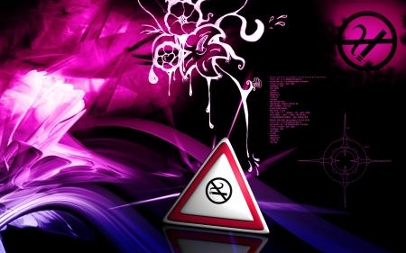 Digital illustration of no smoking in isolated background  illustration