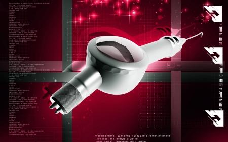 Digital illustration of Micro motor dental polisher   in colour background