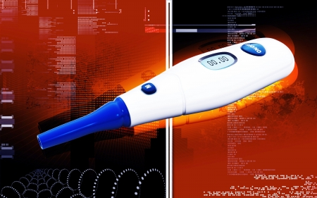obtained: Digital illustration of  Glucosemeter  in  colour background