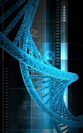 Digital illustration DNA structure in colour background Stock Illustration - 14631026