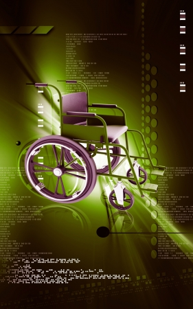 wheel chair: Wheel chair  Digital Illustration of  wheel chair  in colour background  Stock Photo