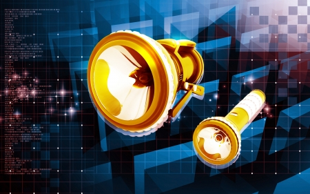 Digital illustration of Torch light cable in colour  background Stock Illustration - 20378869