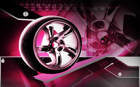 Digital illustration of Alloy wheel in colour background  illustration