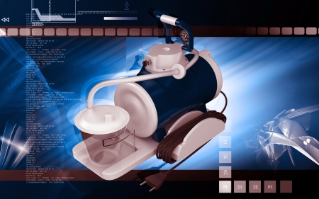 aspirator: Digital illustration of  suction machine aspirator  in colour  background