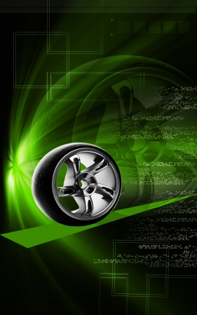 automotive industry: Digital illustration of Shock absorber in colour background  Stock Photo