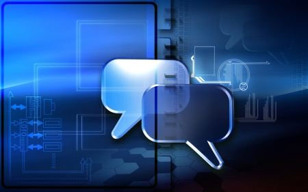 Digital illustration of talk icon in isolated background Stock Illustration - 15406730