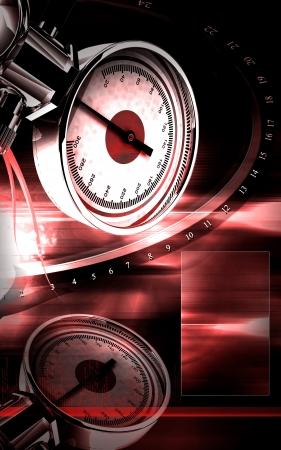 Digital illustration of sphygmomanometer in colour background Stock Illustration - 15470382