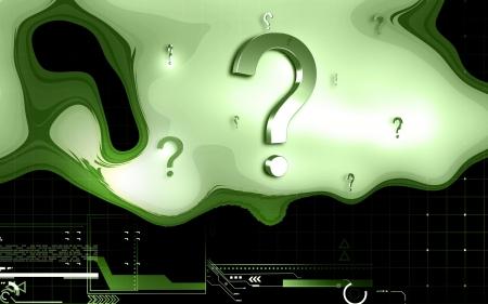 Digital illustration of question mark sign in colour background Stock Illustration - 15538610