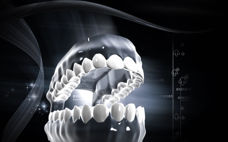 palate: Digital illustration of  Teeth in colour background   Stock Photo