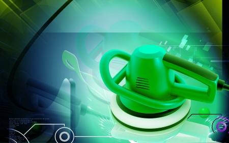 Digital illustration of Car polisher in colour background  illustration