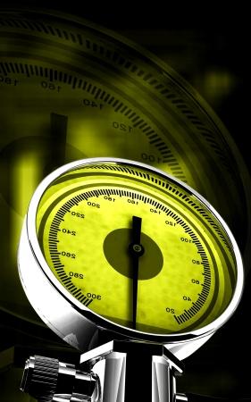 Digital illustration of sphygmomanometer in colour background Stock Illustration - 15833967