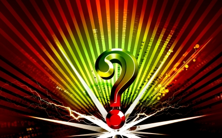 Digital illustration of question mark sign in colour background Stock Illustration - 15833971