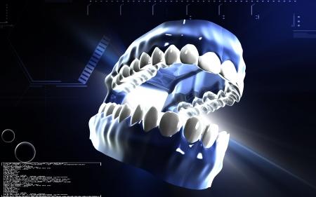 Digital illustration of  Teeth  in colour background Stock Illustration - 15908579