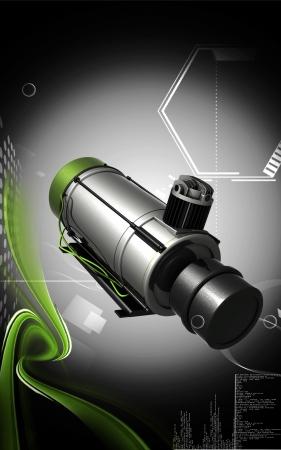 air compressor: Air compressor  Digital illustration of air compressor in colour background