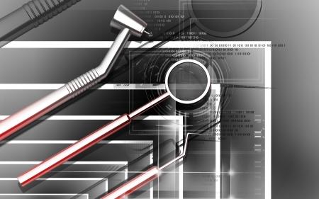 Digital illustration dental equipment in colour background Stock Illustration - 16158287
