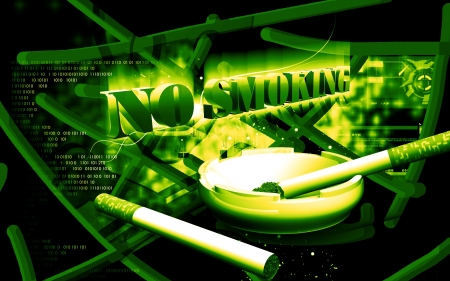 Digital illustration of no smoking  in colour background  illustration