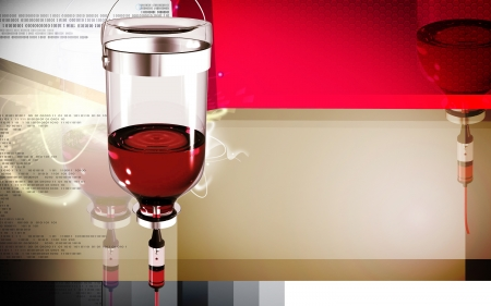 Digital illustration of drip in colour background Stock Photo