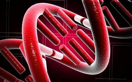 Digital illustration DNA structure in colour background Stock Illustration - 16468279