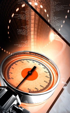 Digital illustration of sphygmomanometer in colour background Stock Illustration - 16566703