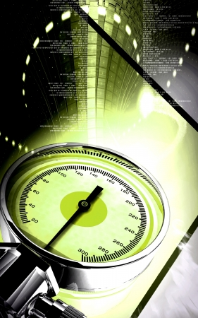 Digital illustration of sphygmomanometer in colour background Stock Illustration - 16566700