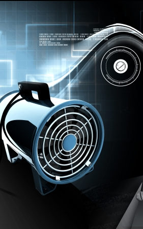 circulating: Digital illustration of Portable ventilator in colour background