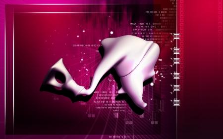 tympanic: Ilustraci�n digital de estribo en el color de fondo