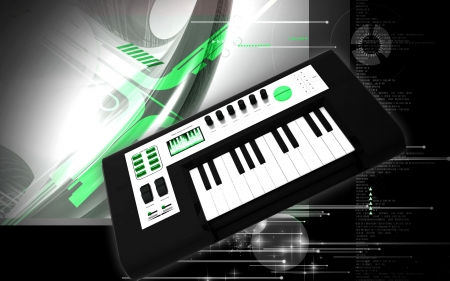 digital mixer: Digital illustration of music midi mixer in colour background