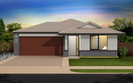 Digital illustration of home in colour background Stock Illustration - 17075430