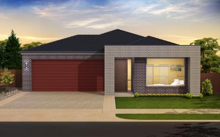 Digital illustration of home in colour background Stock Illustration - 17075444