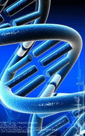 Digital illustration DNA structure in colour background  Stock Illustration - 17253995