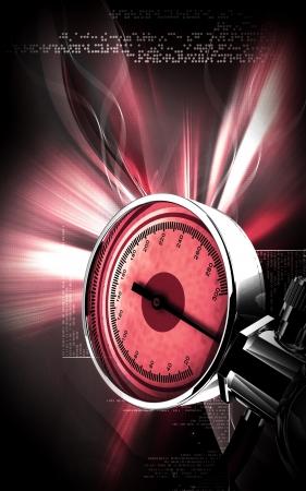 Digital illustration of sphygmomanometer in colour background Stock Illustration - 17338605