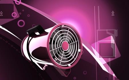 ventilate: Digital illustration of Portable ventilator in colour background