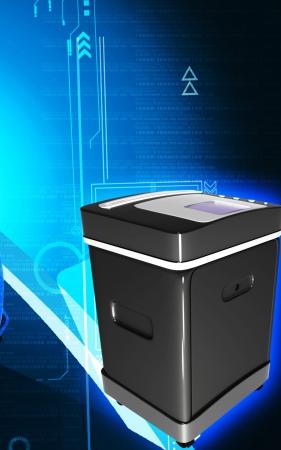 copy machine: Digital illustration of  a Card shredder in colour background