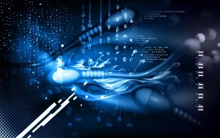 Digital illustration of  sperm  in colour  background   illustration