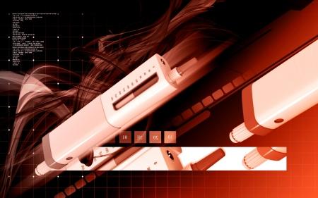 blood sugar: Digital illustration of insulin pen in colour background