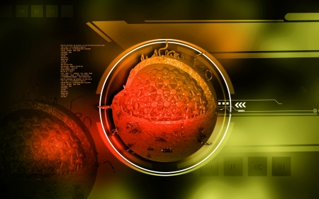 Digital illustration of  Hepatitis in  colour  background illustration