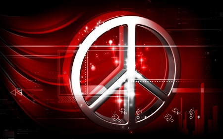 Digital illustration of peace symbol in isolated  background
