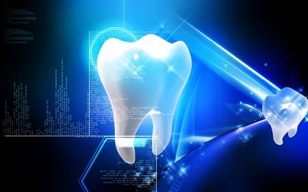 Digital illustration of teeth in colour  background Banco de Imagens - 19367111