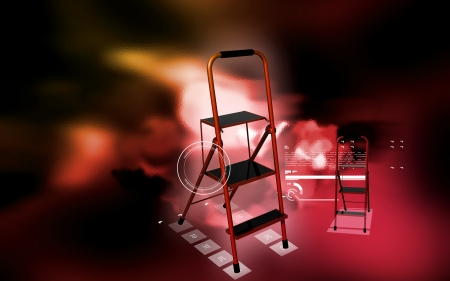 Digital illustration of ladder in colour background  illustration