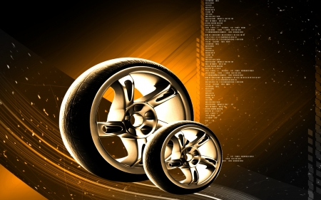alloy wheel: Digital illustration of Alloy wheel in colour background