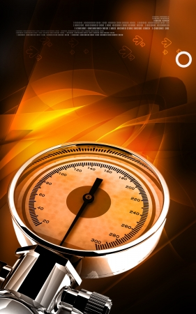sphygmomanometer: Digital illustration of sphygmomanometer in colour background