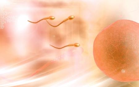 Digital illustration of  sperm  in colour  background  Stock Illustration - 19747239