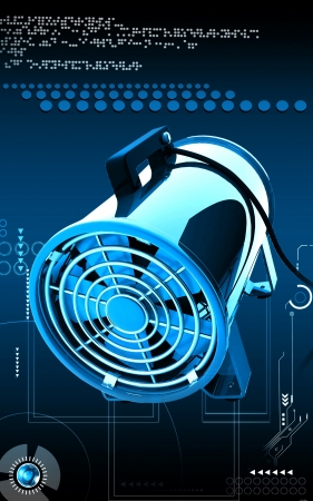 Digital illustration of Portable ventilator in colour background  illustration