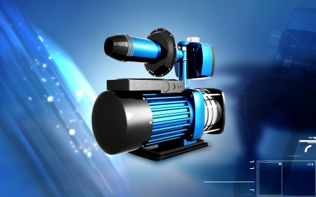 Digital illustration of pressure pump in colour background