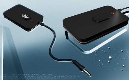 bluetooth: Digital illustration of Bluetooth device  in colour background  Stock Photo